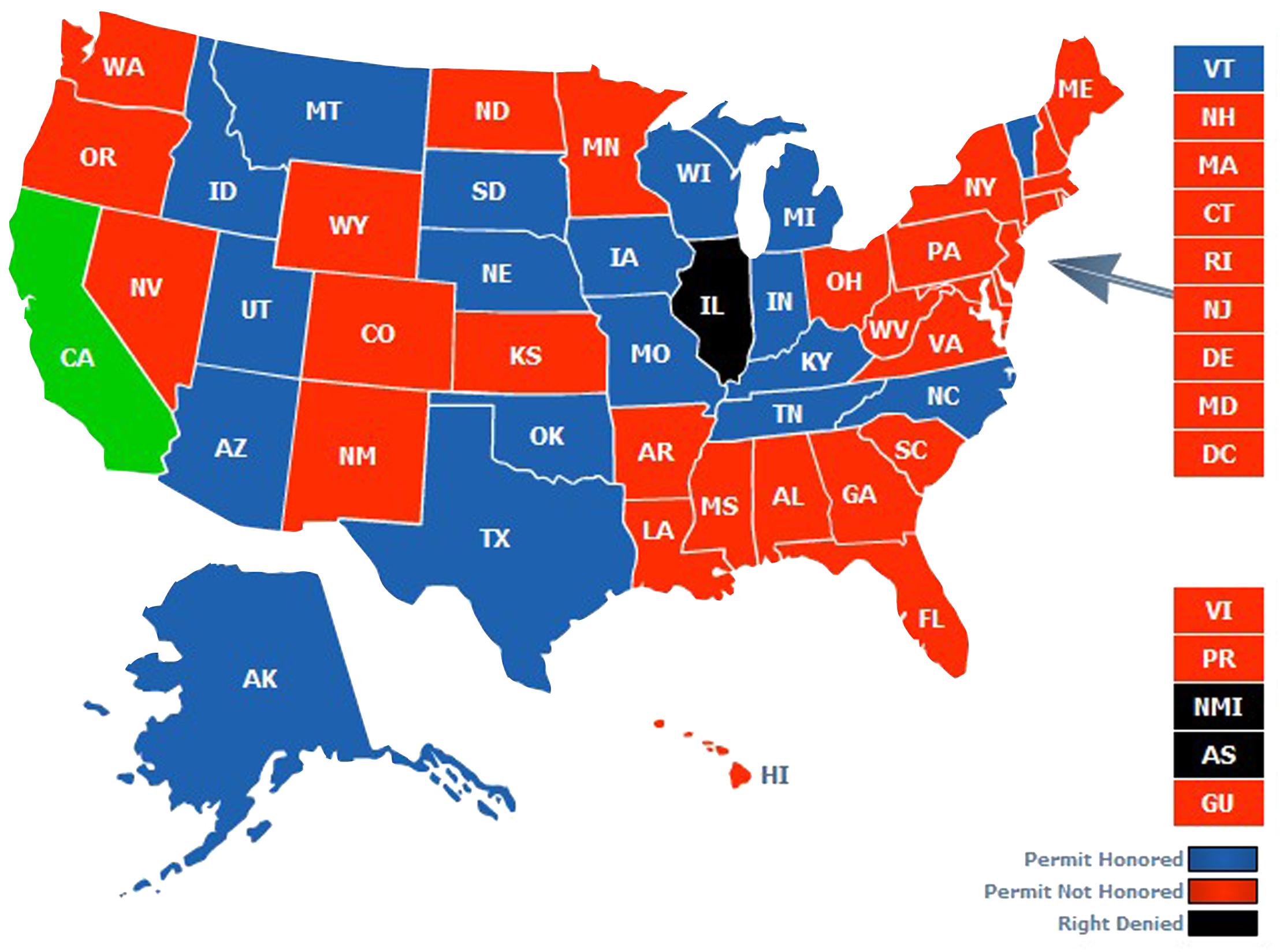 Ohio Ccw Reciprocity Map Bnhspine Com